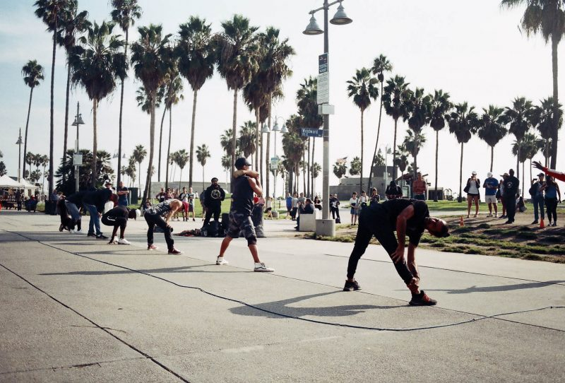 Hip Hop Dancers on Venice Beach in Los Angeles